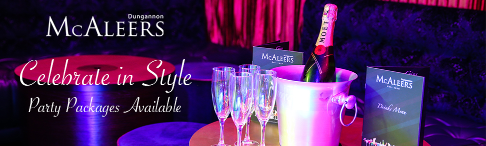 Celebrate in style with McAleers Party Packages